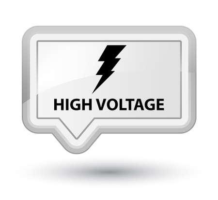 high voltage: High voltage (electricity icon) white banner button
