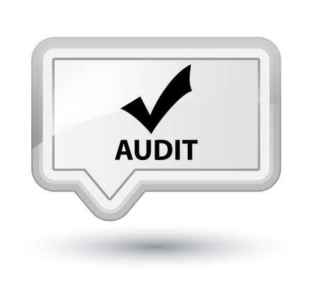 Audit (validate icon) white banner button
