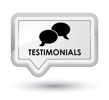 authenticate: Testimonials (chat icon) white banner button
