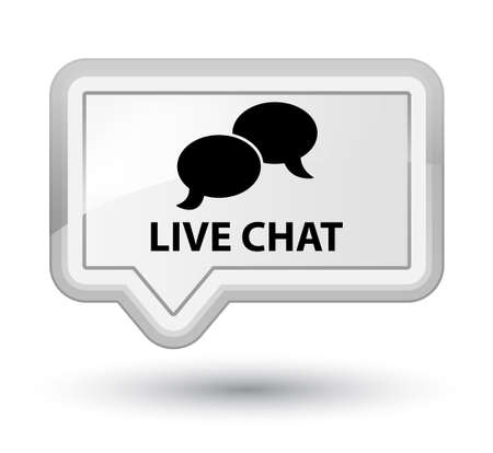 instant message: Live chat white banner button