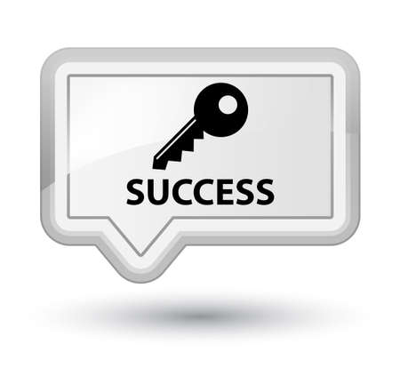 success key: Success (key icon) white banner button