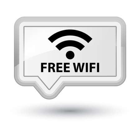 hotspot: Free wifi white banner button Stock Photo