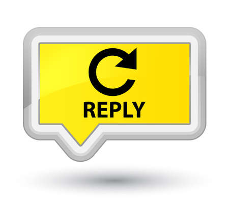 reply: Reply (rotate arrow icon) yellow banner button