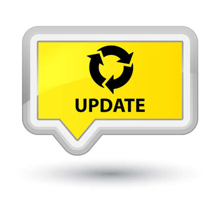 Update (refresh icon) yellow banner button