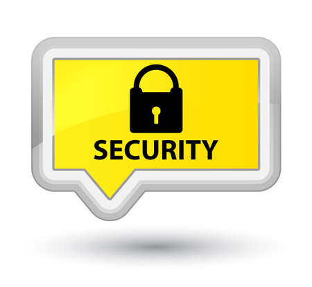 privacy: Security (padlock icon) yellow banner button