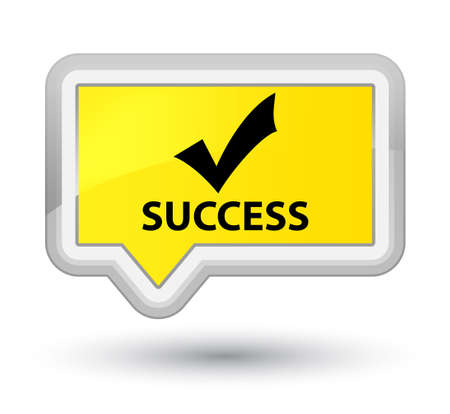 Success (validate icon) yellow banner button