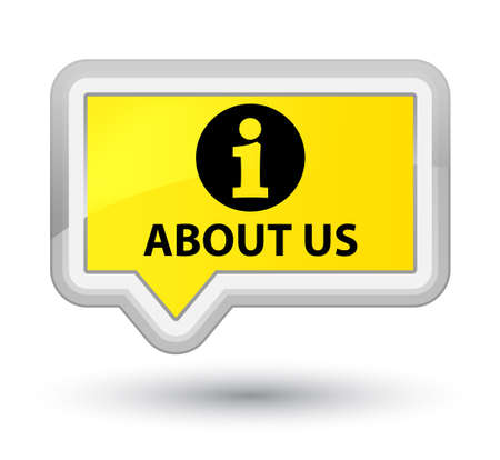 about us: About us yellow banner button
