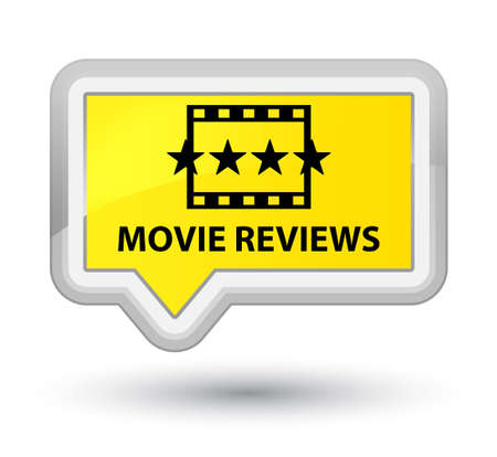 reviews: Movie reviews yellow banner button