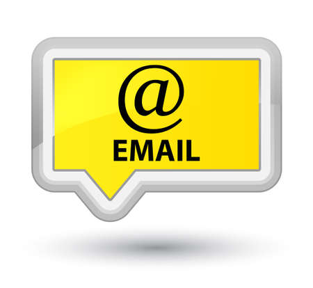 email address: Email (address icon) yellow banner button Stock Photo