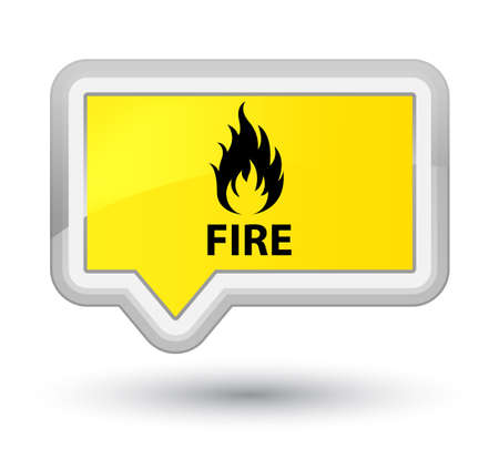inferno: Fire yellow banner button