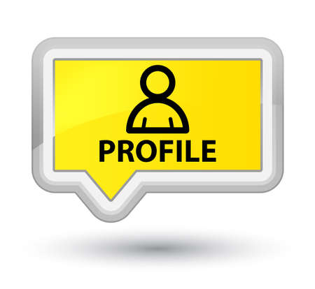 administrador de empresas: Perfil (icono de miembro) botón amarillo de la bandera