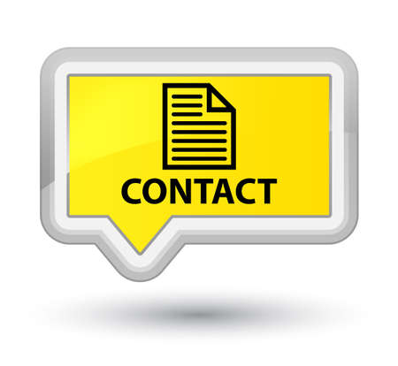 contact page: Contact (page icon) yellow banner button Stock Photo