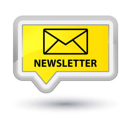 Newsletter yellow banner button