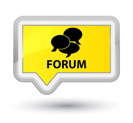 Forum (comments icon) yellow banner button
