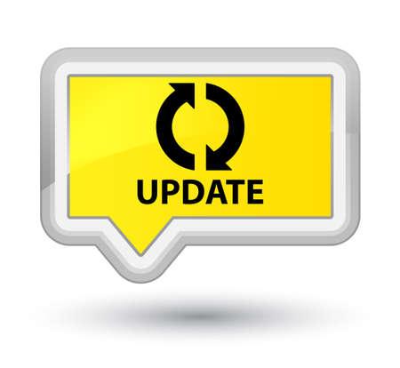 update: Update yellow banner button