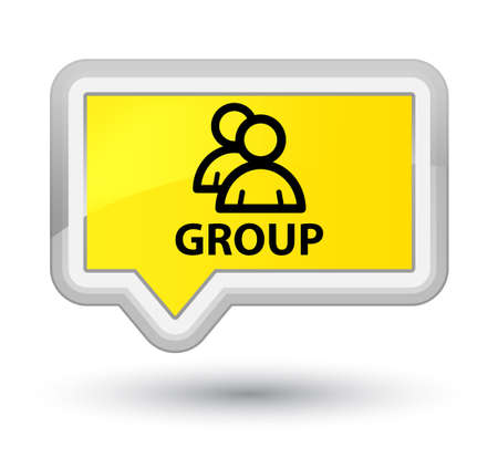 Group yellow banner button