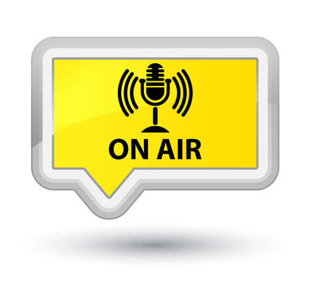 On air (mic icon) yellow banner button