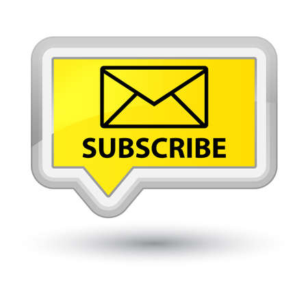 Subscribe (email icon) yellow banner button