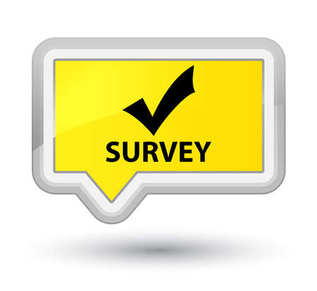 confirm: Survey (validate icon) yellow banner button