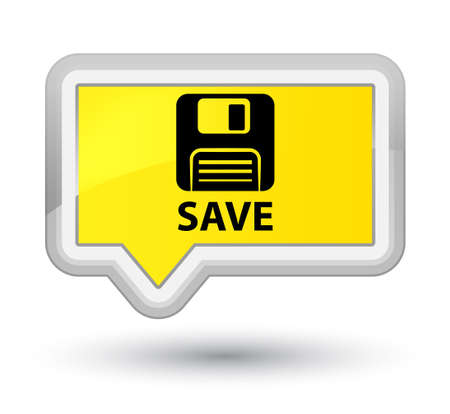 Floppy disk: Save (floppy disk icon) yellow banner button