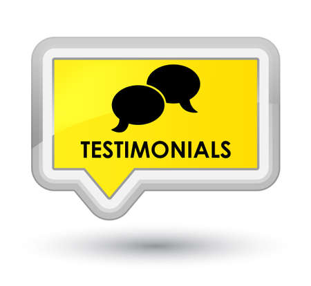 authenticate: Testimonials (chat icon) yellow banner button
