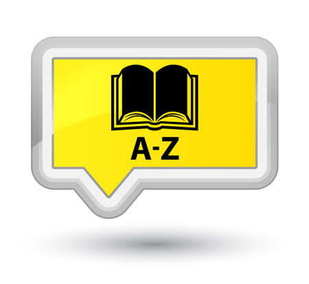 az: A-Z (book icon) yellow banner button Stock Photo