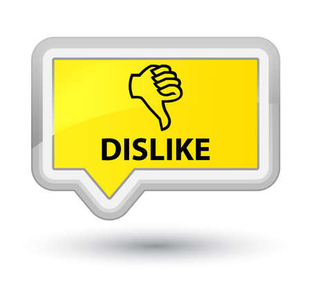 disapprove: Dislike yellow banner button