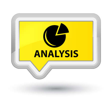 Analysis (graph icon) yellow banner button