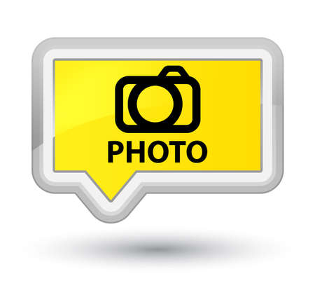 Photo (camera icon) yellow banner button