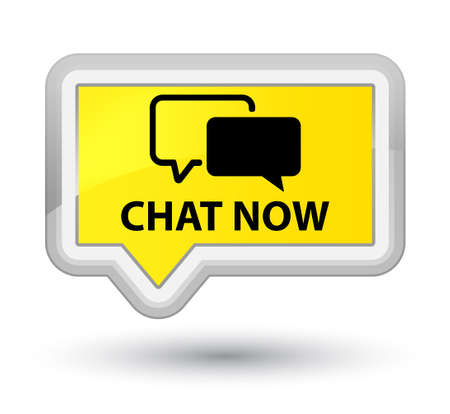 instant message: Chat now yellow banner button