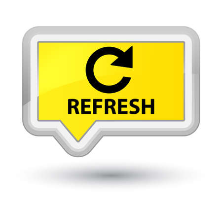 rotate: Refresh (rotate arrow icon) yellow banner button