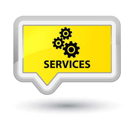 preference: Services (gears icon) yellow banner button