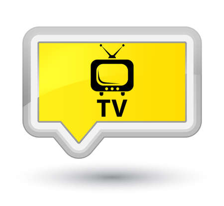 TV yellow banner button