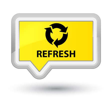 refresh button: Refresh yellow banner button