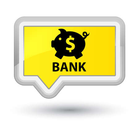 Bank (piggy box dollar sign) yellow banner button