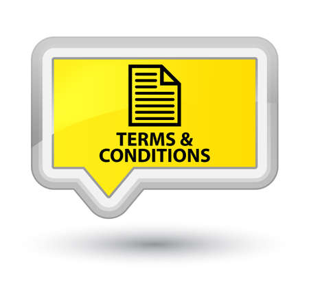 conditions: Terms and conditions (page icon) yellow banner button Stock Photo