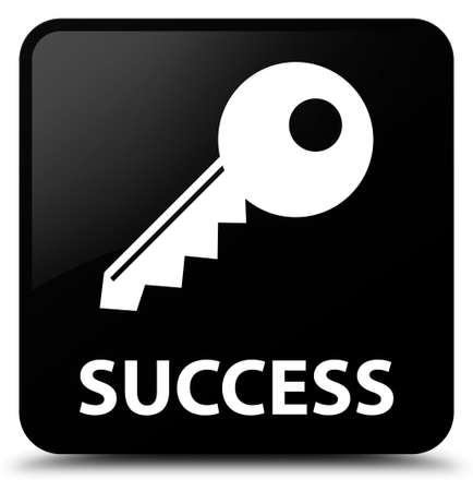 success key: Success (key icon) black square button