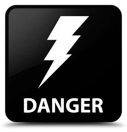 square button: Danger (electricity icon) black square button