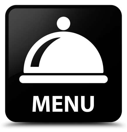 food dish: Menu (food dish icon) black square button
