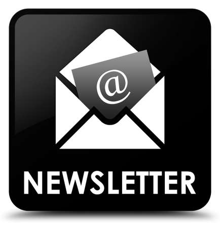 article marketing: Newsletter black square button