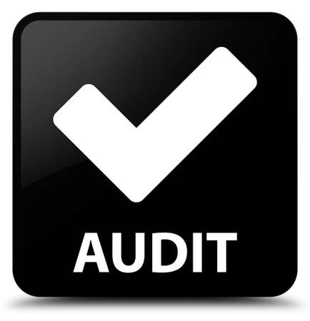 right choice: Audit (validate icon) black square button
