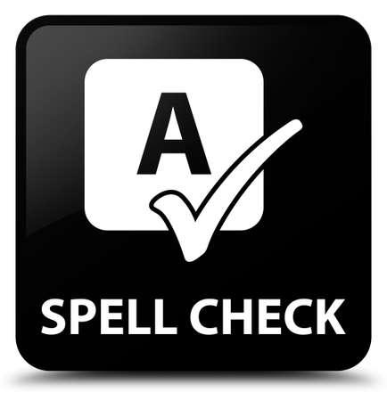 word processor: Spell check black square button