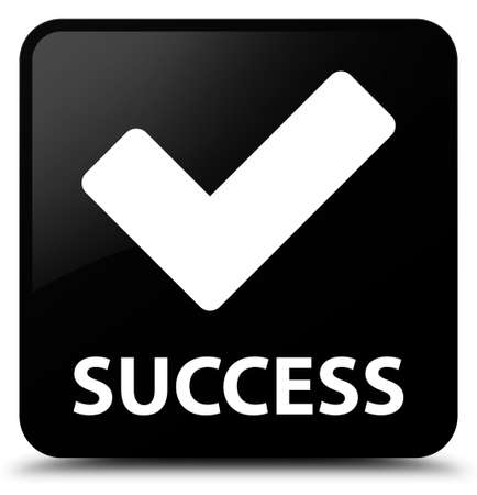 validate: Success (validate icon) black square button Stock Photo