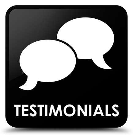 authenticate: Testimonials (chat icon) black square button