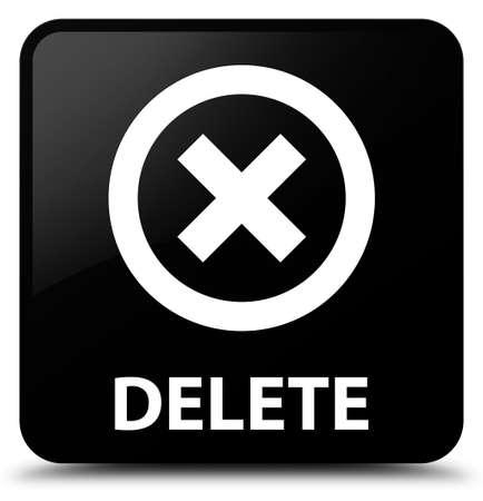 abort: Delete black square button