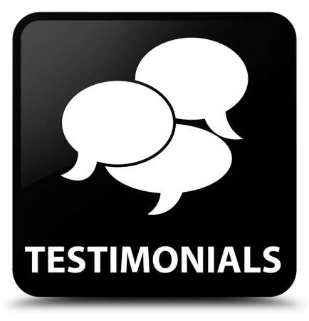 authenticate: Testimonials (comments icon) black square button