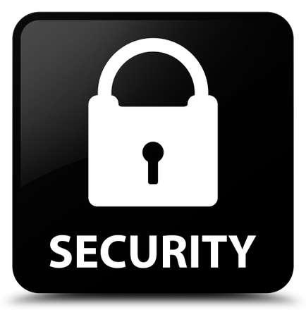 padlock icon: Security (padlock icon) black square button