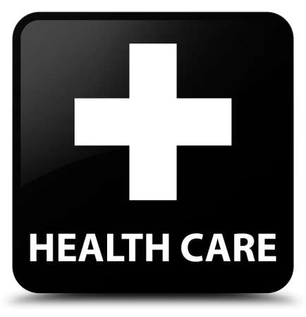 plus sign: Health care (plus sign) black square button