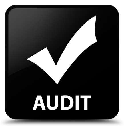 validate: Audit (validate icon) black square button