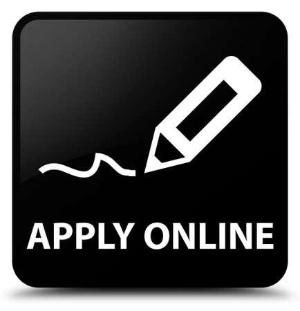 registry: Apply online (edit pen icon) black square button Stock Photo
